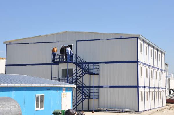 B timents de conteneurs de chantier logements wworkers for Batiment container