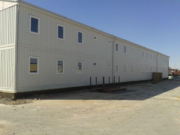 Nous avons livré les bâtiments de chantier pour pétrole/gaz naturel au Kazakhstan