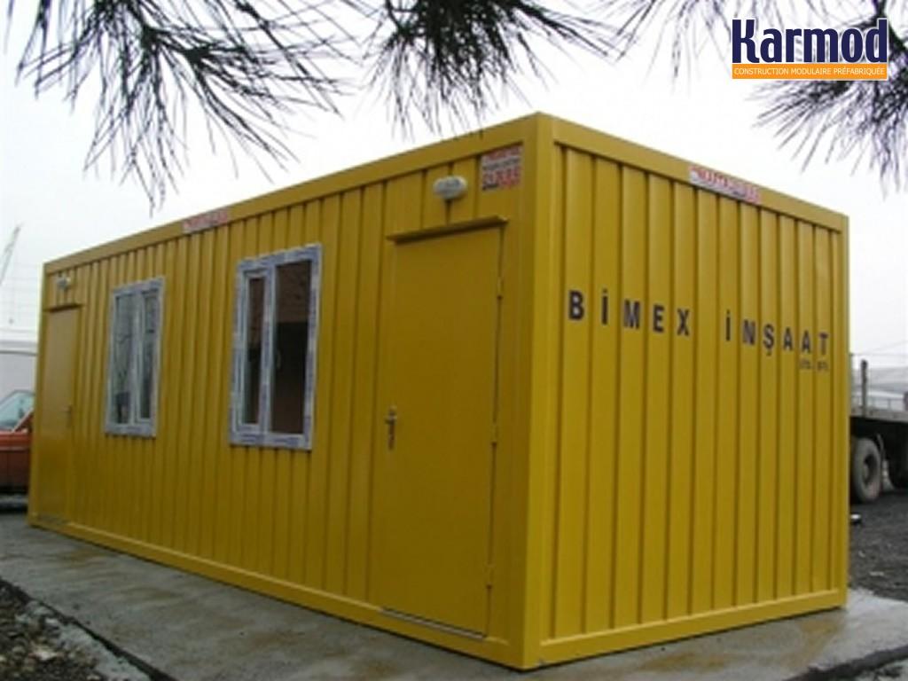 Conteneur portables de bureau du site conteneurs for Batiment container
