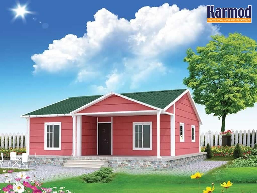 prefabriqu e maisona et modernes pr fabriqu s prix des maisons pr fabriqu es karmod. Black Bedroom Furniture Sets. Home Design Ideas