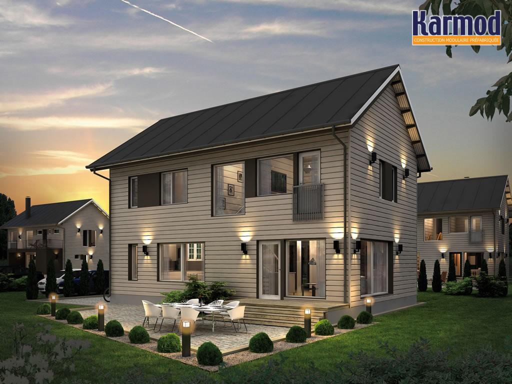 prefabriqu e maisona et modernes pr fabriqu s prix des. Black Bedroom Furniture Sets. Home Design Ideas