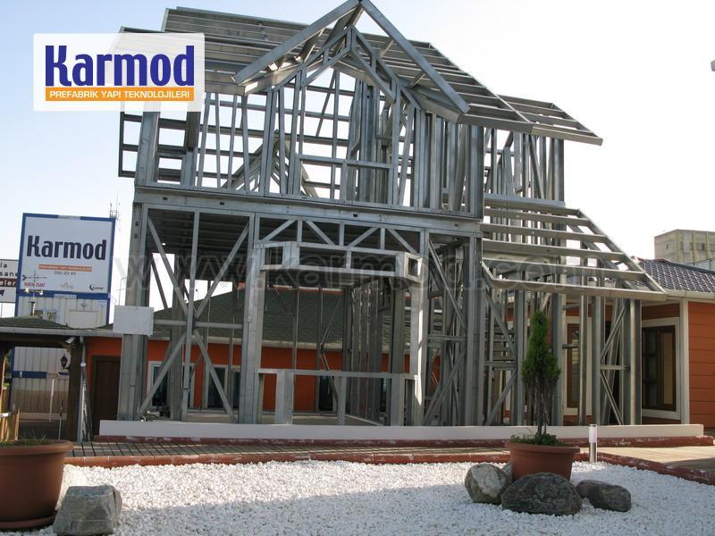 Structure pr fabriqu e maison pr fabriqu e conteneur kiosque structure en acier - Cout maison ossature metallique ...