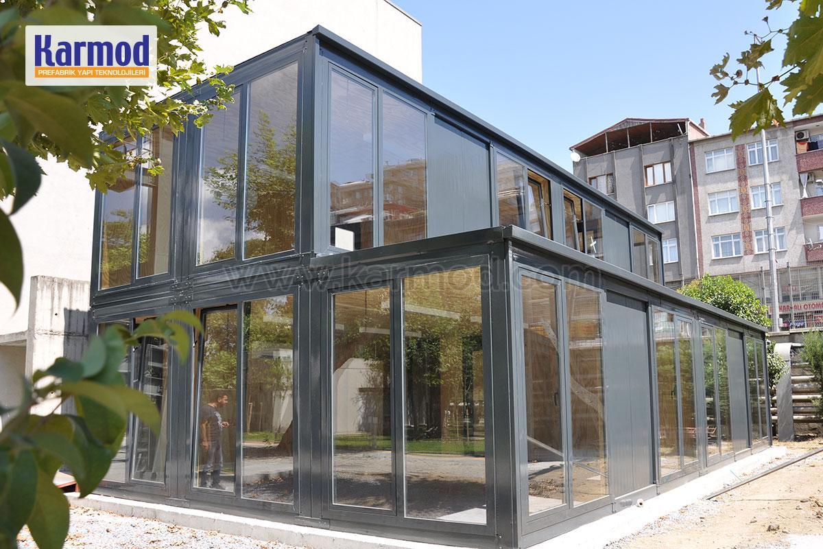 Structure pr fabriqu e maison pr fabriqu e conteneur kiosque structure en acier - Maison conteneur au quebec ...