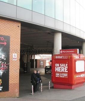 Cabine Karmod est à Old Trafford