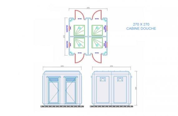 cabine wc 270 x 270