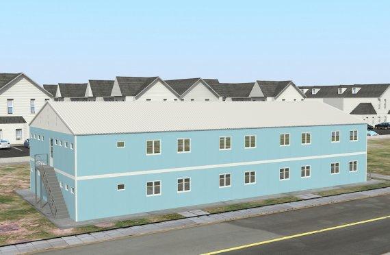 dortoir préfabriqué 736 m²