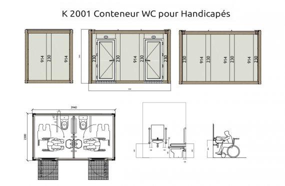 K 2001 Conteneurs WC Handicapé