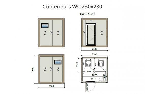 KW2 230X230 Conteneur WC