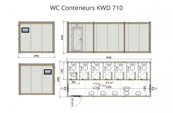KWD 710 Conteneur WC