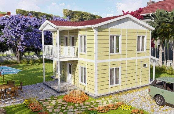 Logements en préfabriqué 128 m2