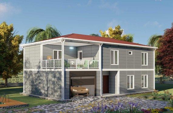 Logements en préfabriqué 206 m2