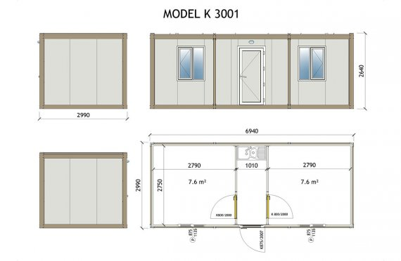 maison container plan