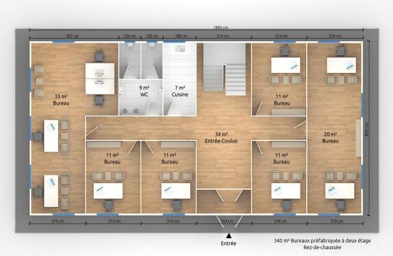 modulaire bureau plan