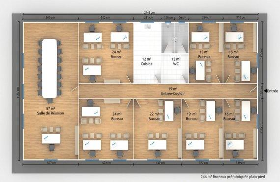 modulaire bureau plans