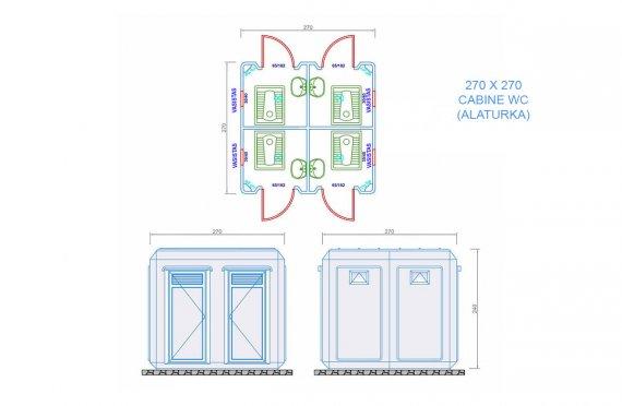 plan cabine wc 270 x 270