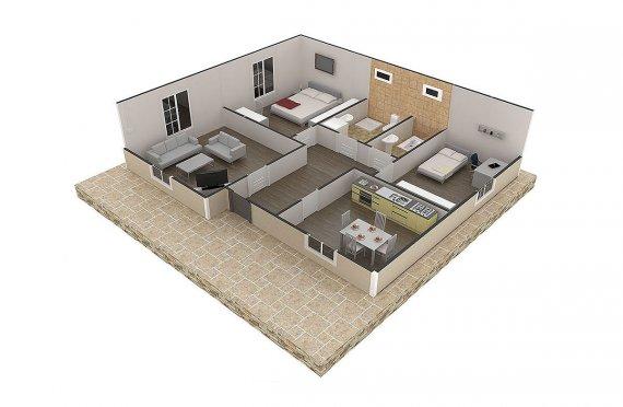 plan construction prefab maison