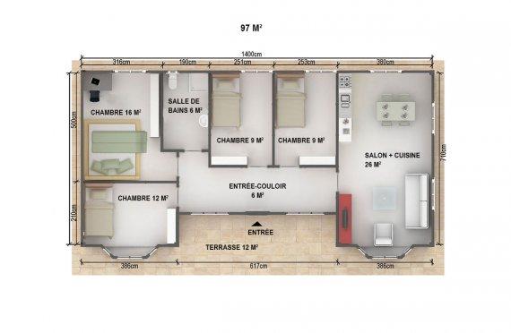 plan de construction préfabriquée