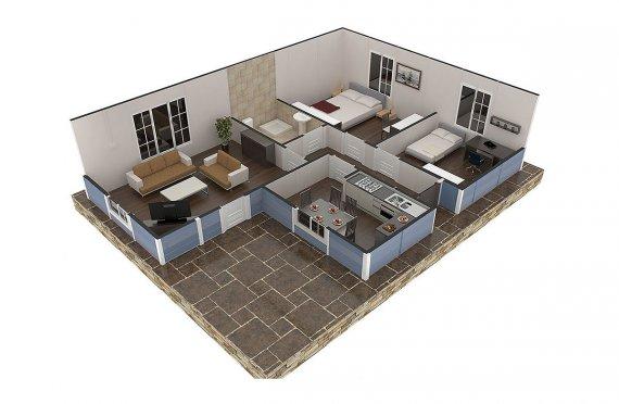 plan de maison africaine