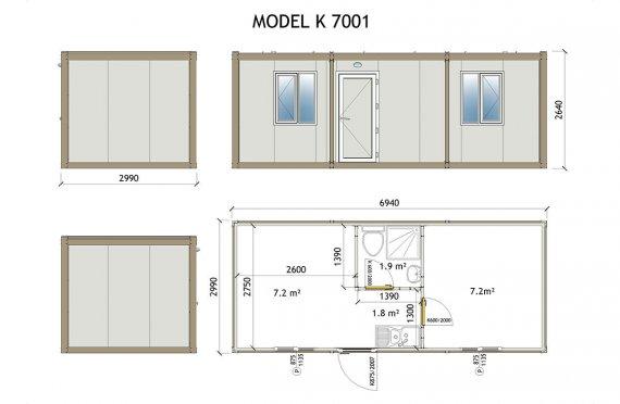 plan de maison em container