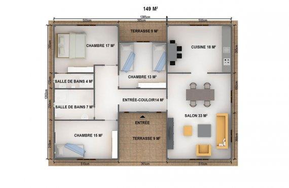 plan de maison en kit