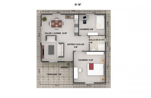 plan de maison préfabriqué