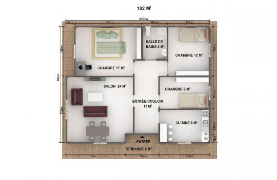 plan de maison prefabrique