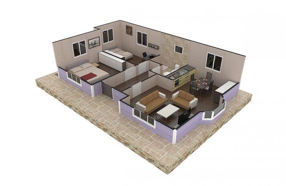 Maison Préfabriquée 71 m² plan de