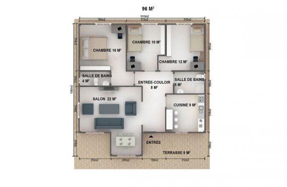 plan de maisons préfabriquées