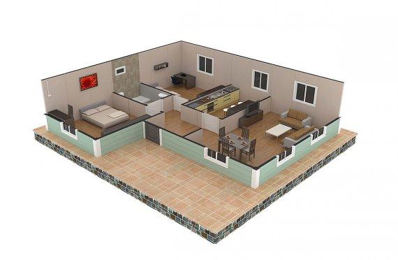 plan de prefab maison africaine