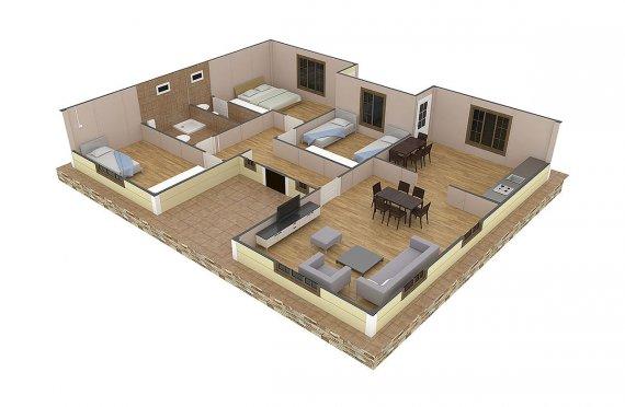 plan de une maison africaine