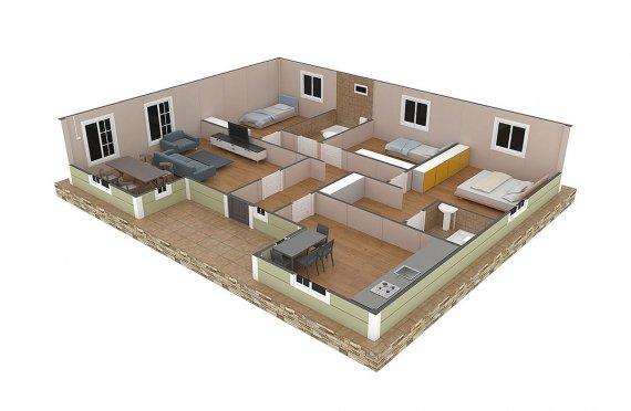 plan de une maison moderne