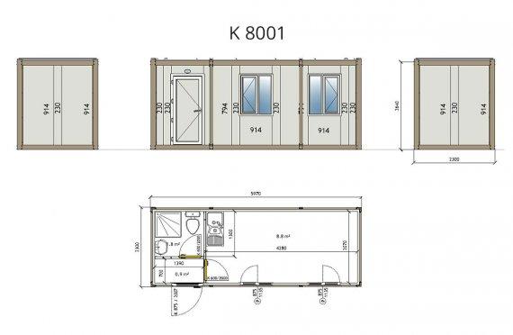 plan logement container