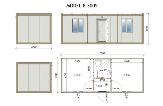 plan maisons containers