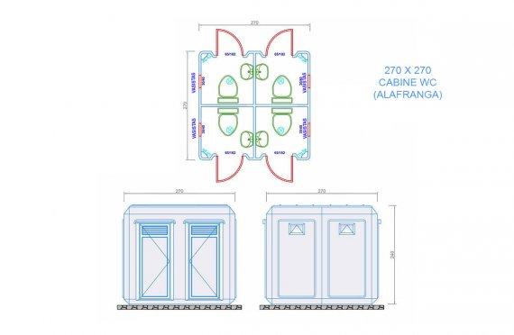 plan wc cabine 270x270