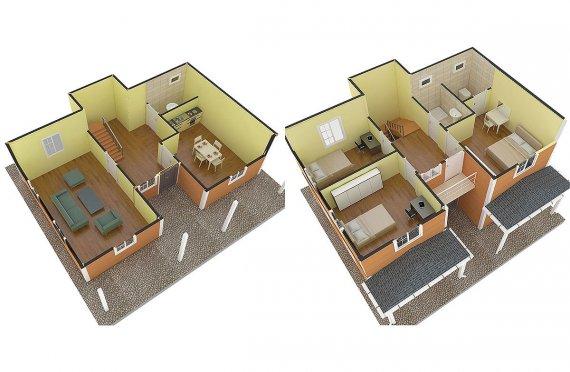 plans modernes de maison
