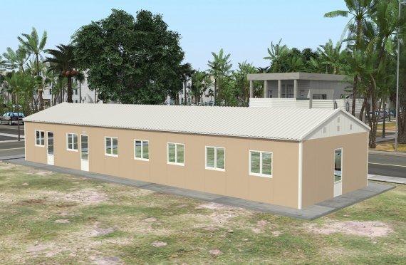réfectoire préfabriqué 139 m2