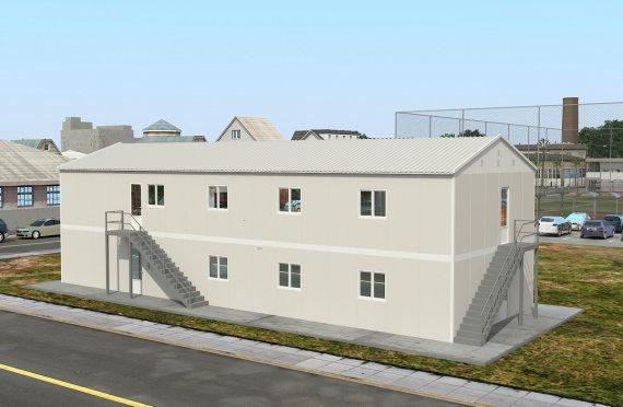 réfectoire préfabriqué 332 m2