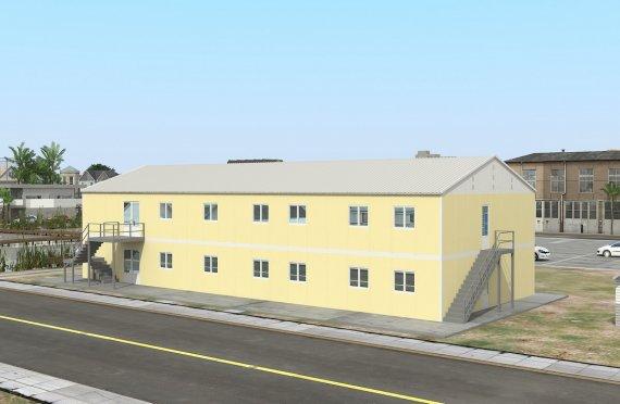 réfectoire préfabriqué 576 m2
