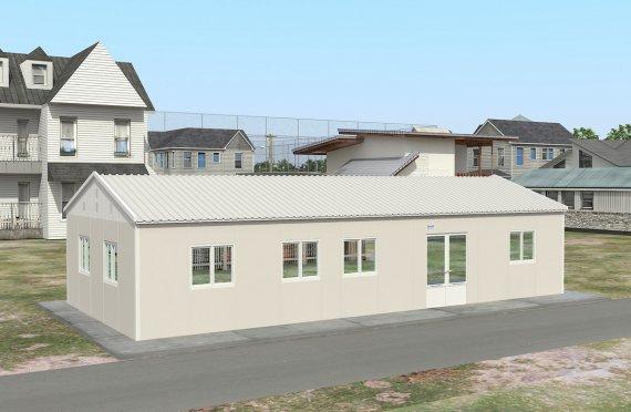 réfectoire préfabriqué 98 m2
