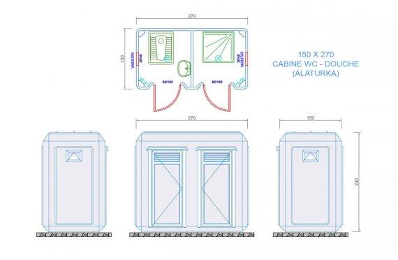 wc cabine 150x270
