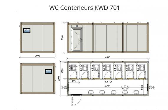 wc douche conteneur kwd 701