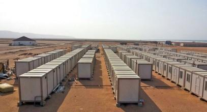 Nous avons mis en place les constructions de chantier pour les travailleurs des mines d'or en Guinée