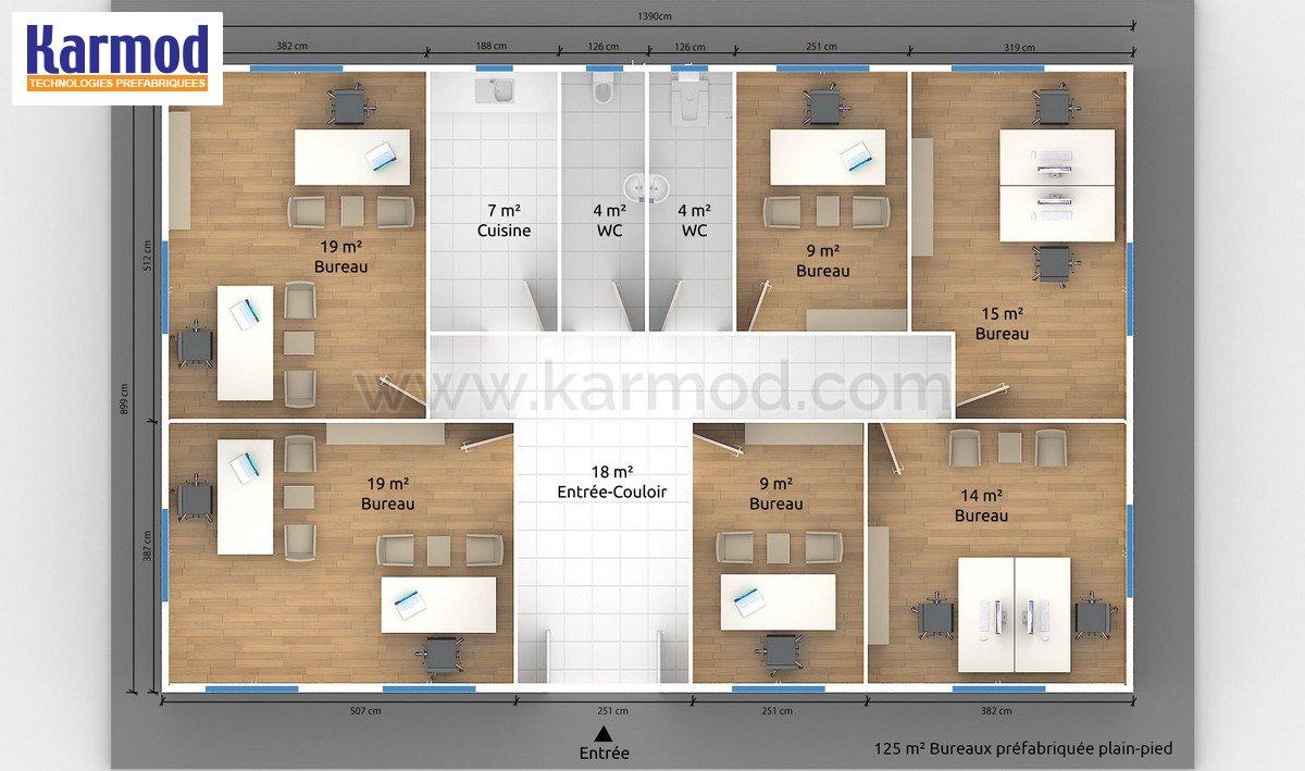 Plans de bureau pr fabriqu karmod - Maison bloc modulaire ...
