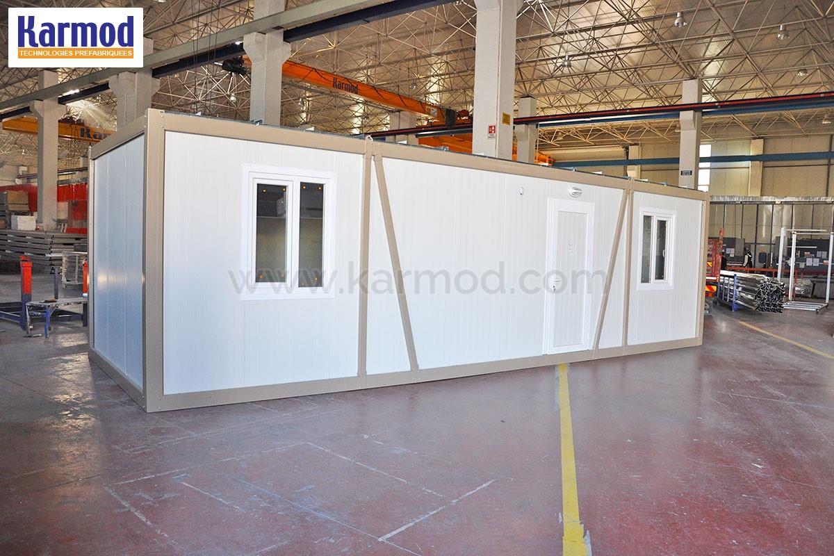 bungalow modulaire en kit bungalow de chantier modulaire. Black Bedroom Furniture Sets. Home Design Ideas