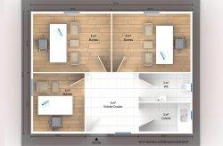 bureau modulaire plan