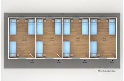 dortoir préfabriqué 79 m2