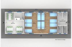 dortoir préfabriqué 86 m²