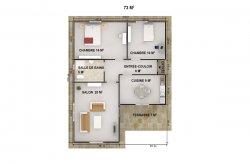 plan de maison préfabriquée ile maurice