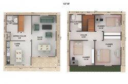 plan de maison préfabriquée rwanda