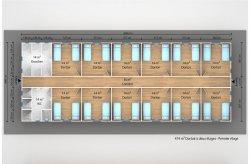 plan dortoir préfabriqué